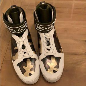 Michael Kors Trent metallic Camo Hightop sneaker